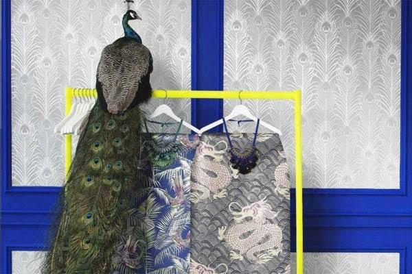 Обои Sunbird, Celestial Dragon, дизайн Мэтью Уильямсона для Osborne & Little